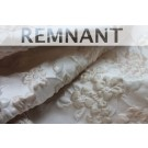 REMNANT: Iridescent Floral Brocade - Oyster/Cream - 0.45-0.6m piece
