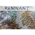 REMNANT: Copper and Muted Purples and Greens Floral Brocade