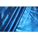 Metallic Foiled Lycra - Blue