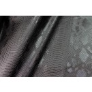 Black Embossed Snakeskin Leatherette