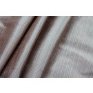 Striped Silk Taffeta - Sandy Brown and Grey