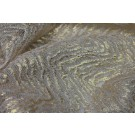 Embroidered Organic Chevron Pattern on Tulle - Gold Foil