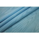 Cotton Viscose Grosgrain - Sky Blue Moire