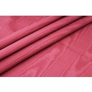 Cotton Viscose Grosgrain - Deep Red Moire