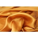Golden Ochre Silk Satin - 140cm wide