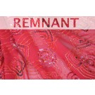 REMNANT: Spiral Beaded and Sequinned Red Chiffon - WHOLE PIECE