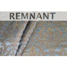 REMNANT: Heavy Banaras Brocade - Dusty Blue/Multi and Gold - WHOLE PIECE 1.6m