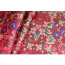 Heavy Banaras Brocade - Coral Red/Multi