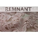 REMNANT: Corded Embroidered Tulle - Pink - Double Scallop - WHOLE PIECE 1m