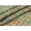 Chunky Multi Colour Silk Chenille - Green/Yellow