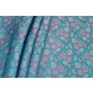 Banaras Brocade - Blue and Pink
