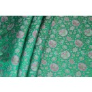 Banaras Brocade - Green and Pink