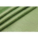 Green and Gold Small Check Brocade