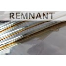 REMNANT: Mirror Finish Leatherette - New Gold- WHOLE PIECE 0.45m