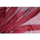 Distressed Silk Cotton - Burgundy