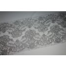 Corded Lace Trim - Silver