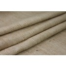 "Raw Silk ""Basket Weave"" Matka - Natural/Brown"