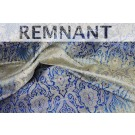 REMNANT: Heavy Banaras Brocade - Navy Ivory Ombre with Gold and Red - WHOLE PIECE 1.2m
