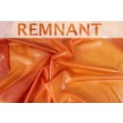 REMNANT: Latex - Hand Dyed Orange (Semi Transparent) - 2.1m piece