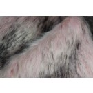 Faux Fur - Long Pile Pale Pink with Speckled Black Tips
