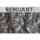 REMNANT - Overlapping Micro Sequin On Silk Chiffon - Tarnished Silver - 1.2m piece