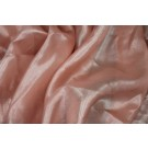 Foil Printed Silk Chiffon - Silver on Peach