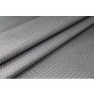 Basket Weave Embossed Leatherette - Metallic Grey