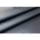 Basket Weave Embossed Leatherette - Metallic Navy