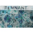 REMNANT: Floral Print Cotton - Turquoise Blue - 2m WHOLE PIECE