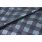 Checked Semi Sheer Matka - Navy