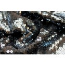 Sequin On Chiffon - Black