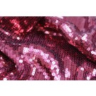 Sequin On Chiffon - Burgundy