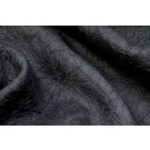 Black Crinkled Linen