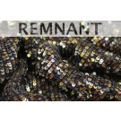REMNANT: Overlapping Micro Sequin On Silk Chiffon - Gold, Bronze, Silver and Brown 1.45m piece