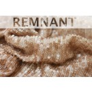 REMNANT: Overlapping Micro Sequin On Silk Chiffon - Mink - 1.3 to 1.4m piece