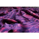Silk Satin - Purple and Pink Feather Print