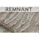 REMNANT: Italian Hand Beaded Lace - Blush with Pearls and Micro Beads - 0.85m piece