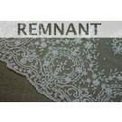 REMNANT: Beaded Embroidered Tulle - Ivory, Single Scallop  - WHOLE PIECE 1.3m