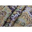 Baroque Style Embroidered Silk - Aubergine