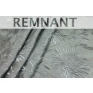 REMNANT: Floral Embroidered Silk Taffeta - Duck Egg Blue - 0.8m piece