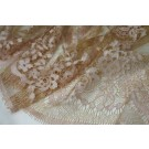 Pink/Gold Chantilly Lace