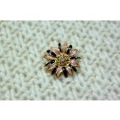 Crystal and Enamel Flower Button