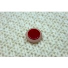 Red and White Resin Button - Small