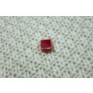 Red and White Resin Button - Square