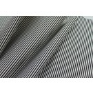 Soft Striped Leatherette - Black and Ivory