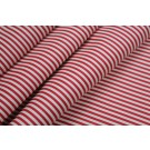 Soft Striped Leatherette - Red and White
