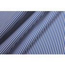 Soft Striped Leatherette - Blue and White