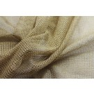Metallic Mesh Fabric - Gold