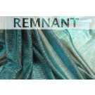 REMNANT: Sheer Shimmer Jersey - Peacock Blue - WHOLE PIECE 0.6m