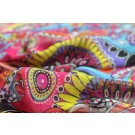 Printed Silk Chiffon - Psychedelic Red Pink